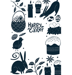 happy easter design template spring holiday vector image