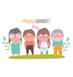 Happy grandparents day cartoon design vector