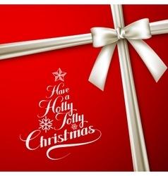 Holly jolly merry christmas vector