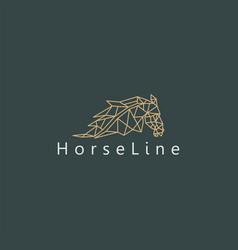 Horse logo line style simple minimalist design vector