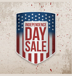 independence day background with usa flag shield vector image