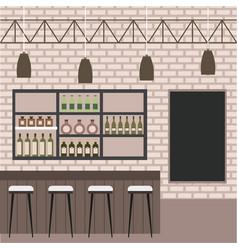 Interiores workspace coffee shop restaurant vector