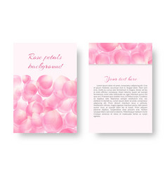 leaflet template with falling petals vector image