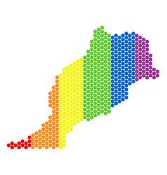 lgbt spectrum pixel morocco map vector image