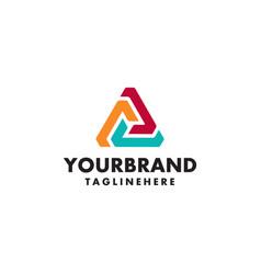 Logo template modern abstract triangle creative vector