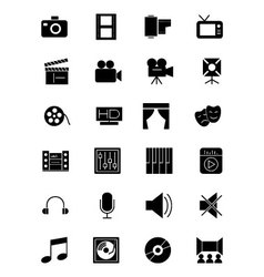 Media and advertisement icons 1 vector