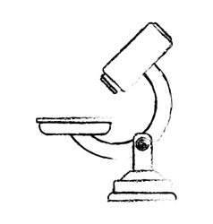 Microscope lab equipment vector
