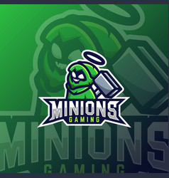 Minions e sport logo design template for team vector