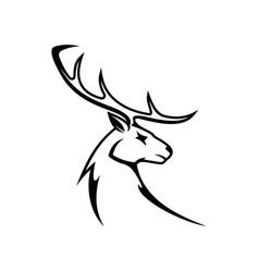 Moose or elk deer animal head isolated vector