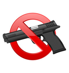 No pistol vector