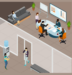 office business meeting isometric vector image