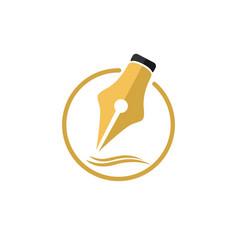 pen logo icon symbol vector image