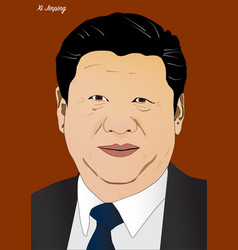 President of chine xi jinping vector
