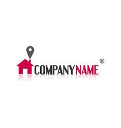 Real estate simple themed logo vector