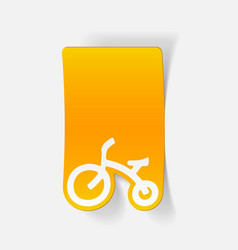 Realistic design element childrens bike vector
