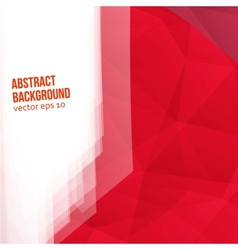 Red polygons Abstract background vector
