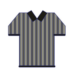 Referee tshirt wear symbol blue lines vector