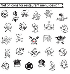 restaurant menu design set vector image