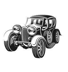 Retro car on a white background vector