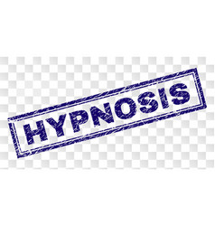 Scratched hypnosis rectangle stamp vector
