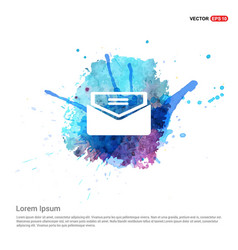 Send mail icon - watercolor background vector