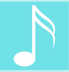 sixteenth music note icon flat style vector image