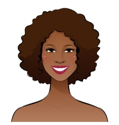 Smiling young woman vector image