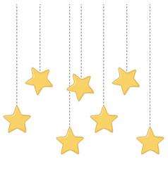 stars hanging icon vector image