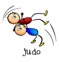 Stickmen doing judo vector