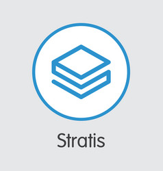 Stratis - cryptocurrency logo vector