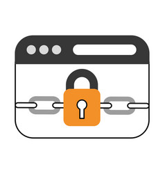 Template web with padlock vector