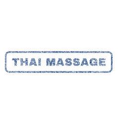 Thai massage textile stamp vector