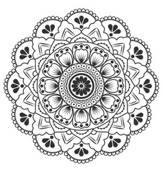 thai round flower art design image vector image