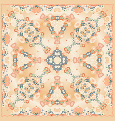 The bright shawl with geometric pattern vector