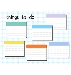 things to do blank vector image