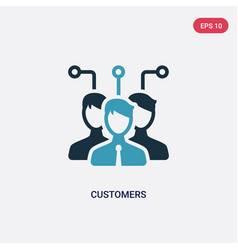 Two color customers icon from technology concept vector