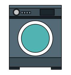 Wash machine isolated icon vector