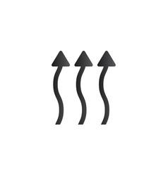 wavy up arrows upward curvy arrows heat arrows vector image