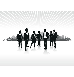 business people cityscape background vector image vector image