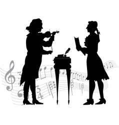 Classical musicians vector image vector image