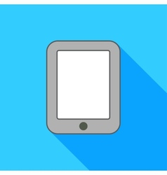 Ipad on blue background vector image vector image