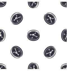 vintage hand drawn compass seamless pattern vector image
