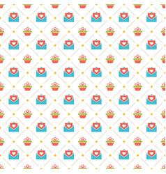 happy birthday seamless pattern design vector image