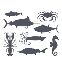 Sea life Seafood Fish vector image