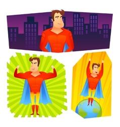 Superhero posters banners set vector