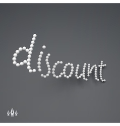 DISCOUNT 3D Text vector image vector image