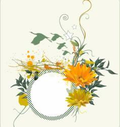flower bird vector image vector image