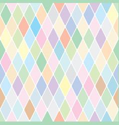 harlequin pale diamond pattern vector image vector image