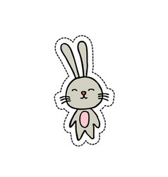 rabbit doodel icon vector image vector image