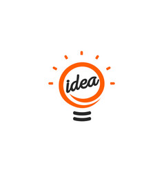 stylized sign of lightbulbs white and vector image